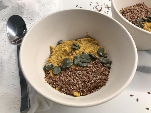Porridge alla curcuma e cannella antinfiammatorio