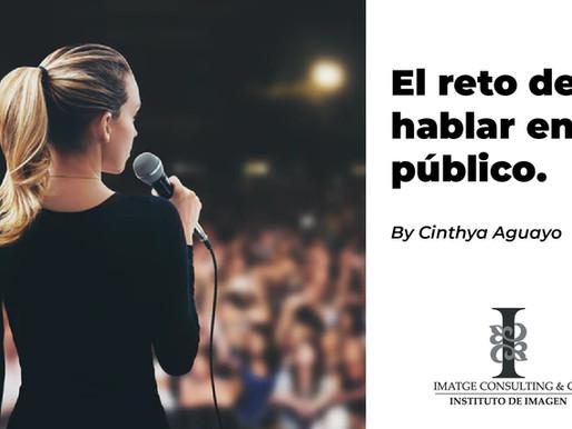 El reto de hablar en público.