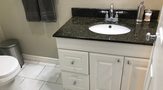 Sink, hand dryer in drawer