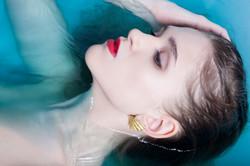gold dipped shell earrings