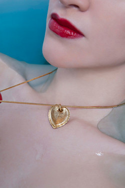 small shell pendant gold dipped