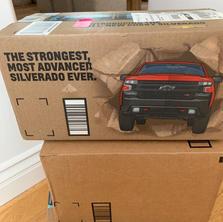 Shipping box ads