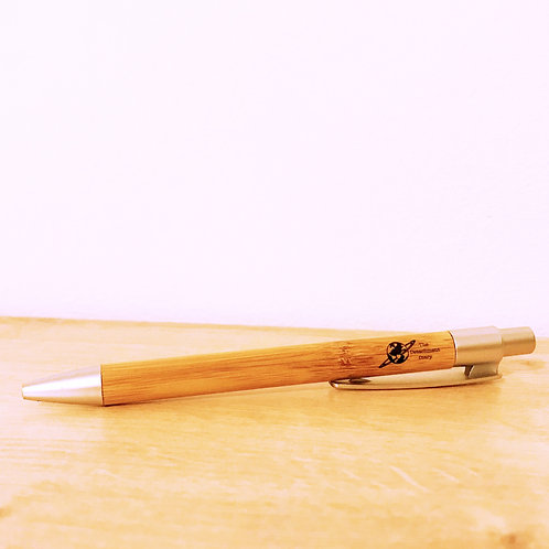 Bamboo Pen with The Detachment Diary Logo