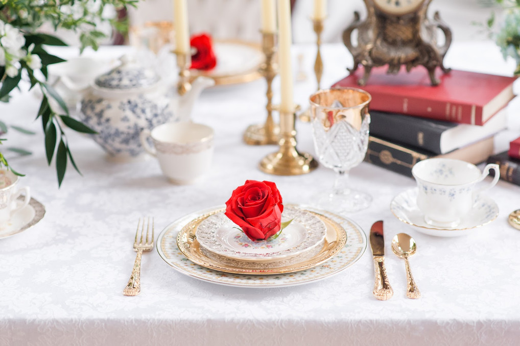 Beauty & the Beast Themed Shoot | Duke Mansion | Charlotte, North Carolina Wedding