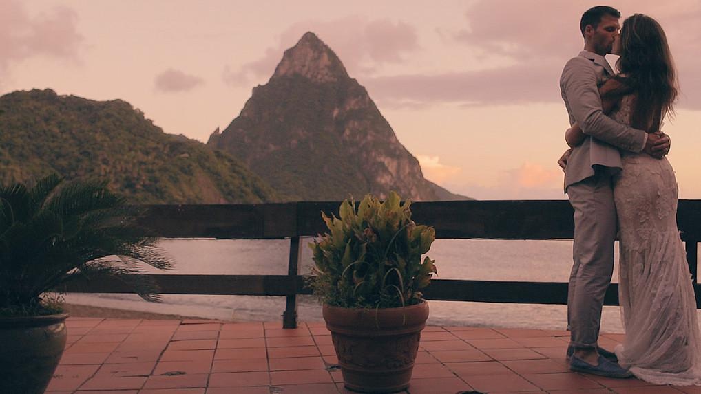 Brittney & Josh | Escape to a Caribbean Wedding | Humming Bird Beach | Soufriere, Saint Lucia