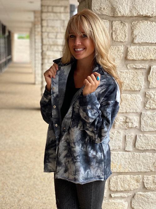 Charcoal Tie dye Jacket