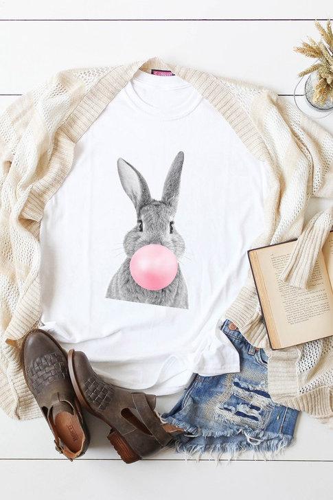 Bubble Gum Bunny Tee