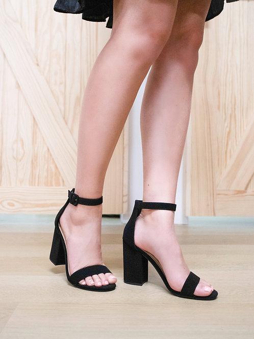Chunky Classic Black Heels