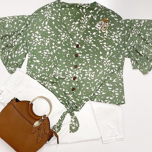 Áine Sage blouse