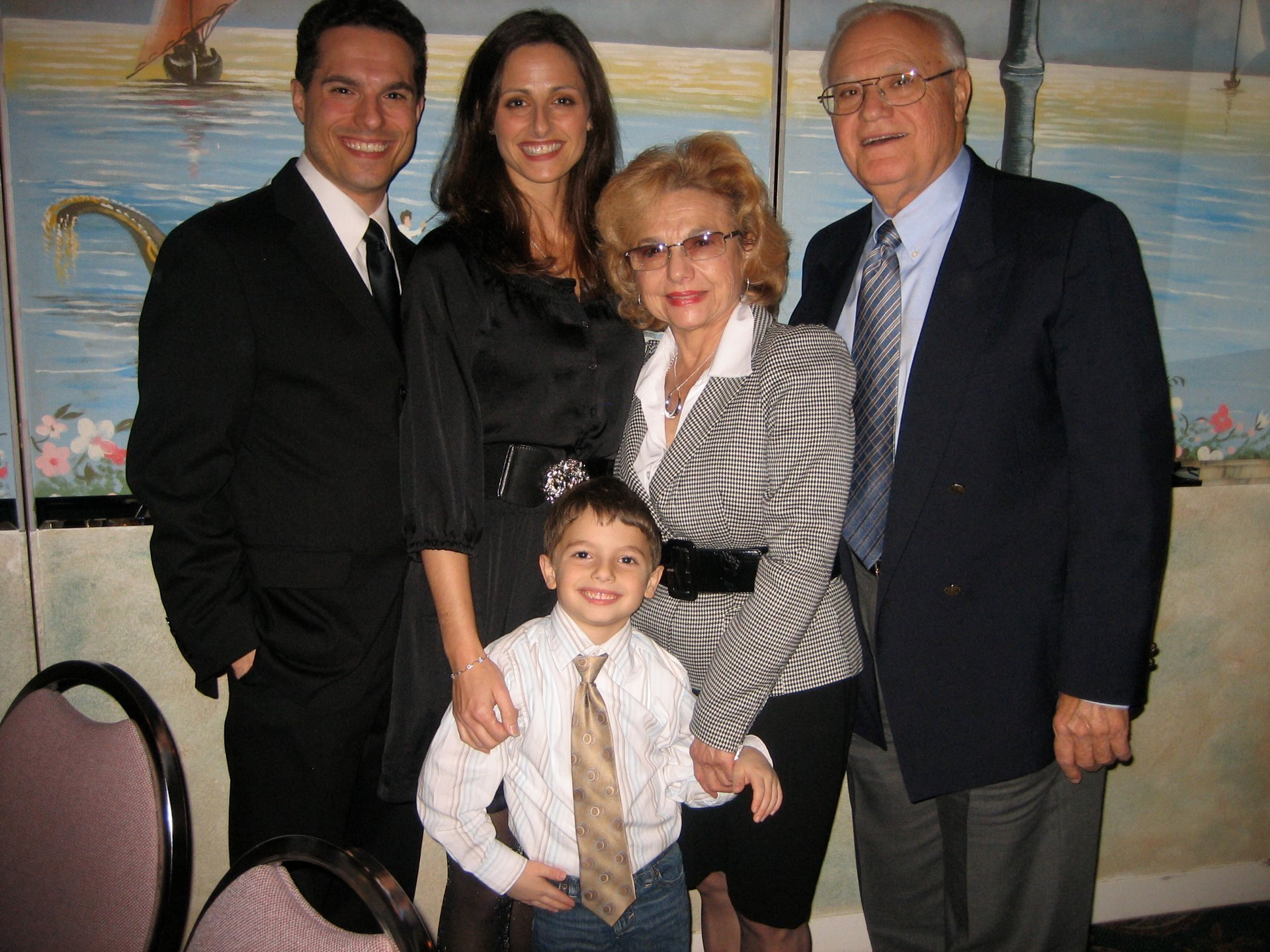 JMC with his family at the David Awards.