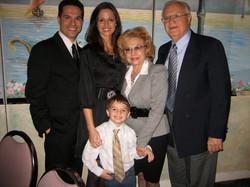 JMC with his family at the David Awards.
