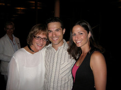 Patti LuPone, JMC and his wife Rachel on opening night of Annie Get Your Gun at Ravinia.