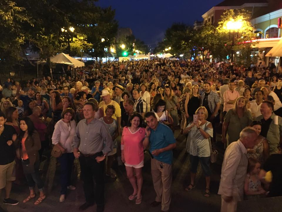 The Festa crowd later in the evening