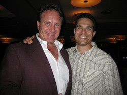 Mike Accardo and JMC on opening night of Annie Get Your Gun at Ravinia.