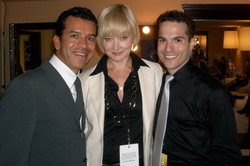 JB Choreographer Sergio Trujillo, Caitlin Carter and JMC at the 59th Annual Prime time Emmy Awards.