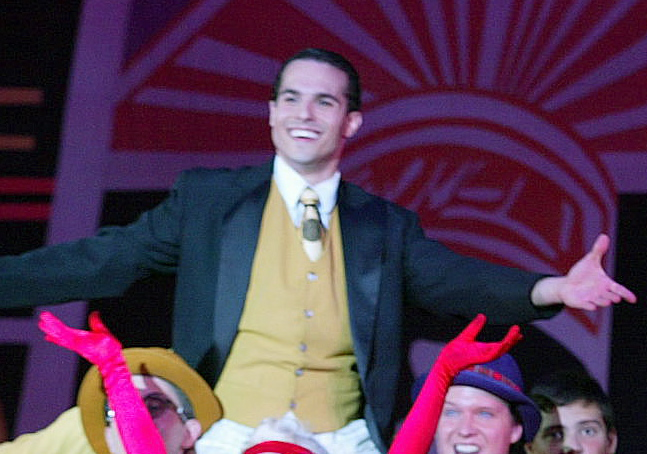 "JMC as Don Lockwood in ""Singin' in the Rain"" - Hofstra Grey Wig Productions."