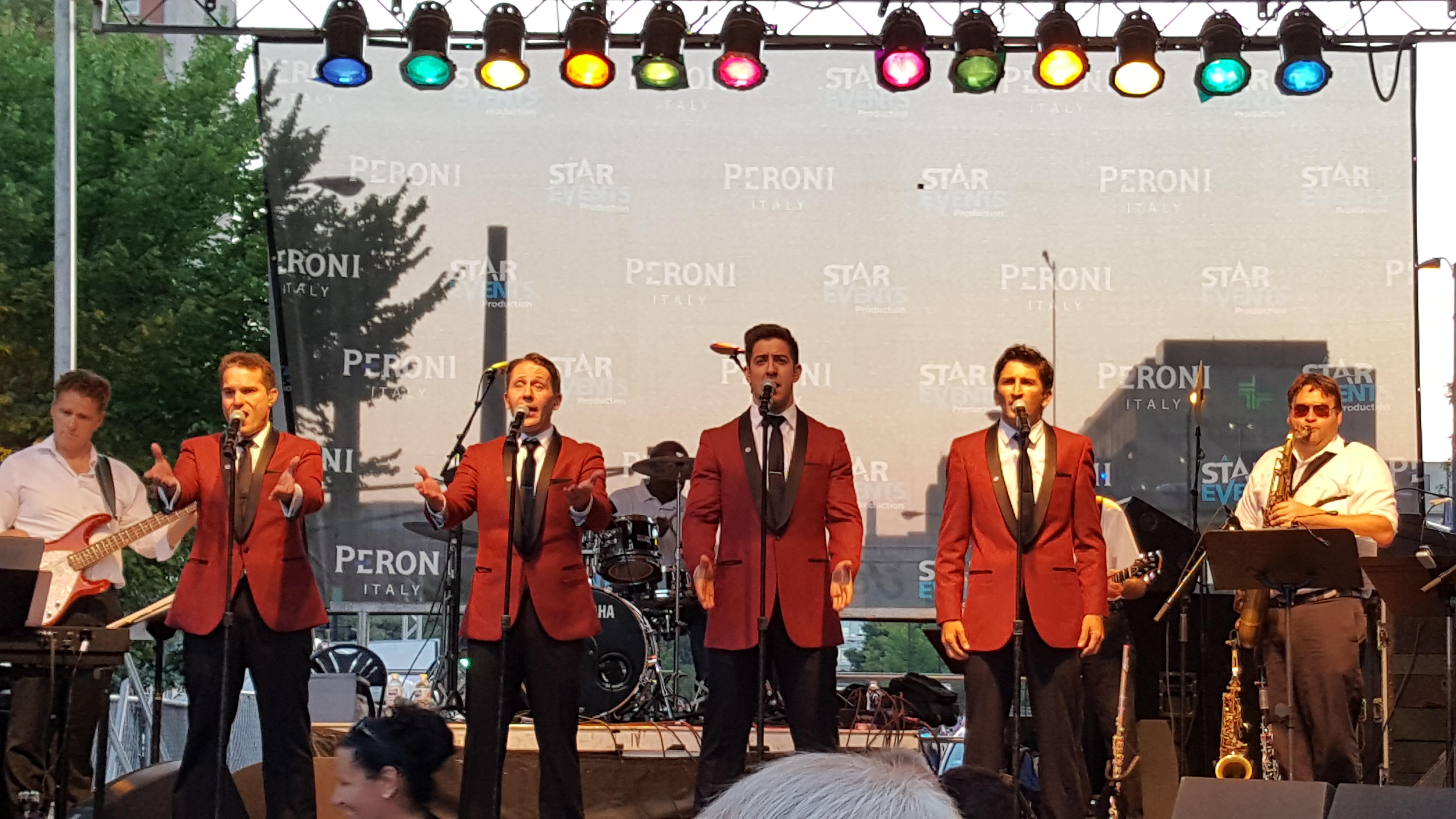 The Four C Notes at Festa Italiana.