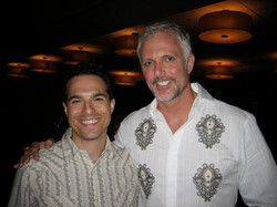 Patrick Cassidy and JMC on opening night of Annie Get Your Gun at Ravinia.