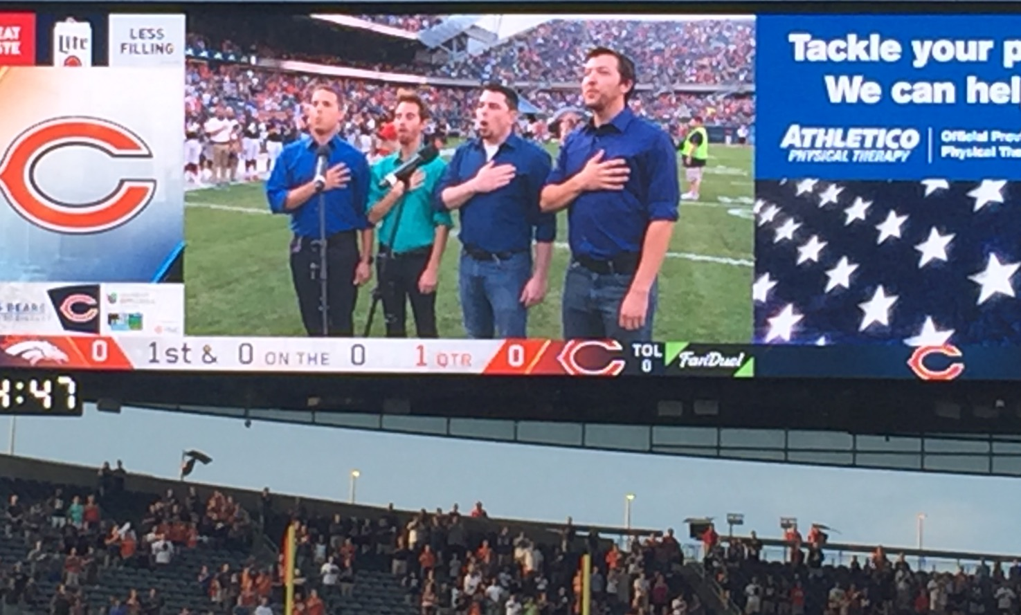 The Four C Notes at Soldier Field.