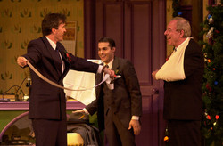 """George Dvorsky, JMC and Len Wolpe in """"She Loves Me"""" PCLO."""