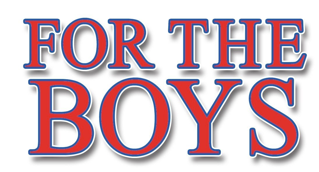 "Marriott Theatre's ""For the Boys"" logo."