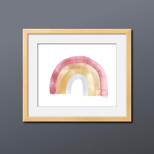 Rainbow Watercolor Print