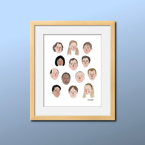 The Office Illustrated Print