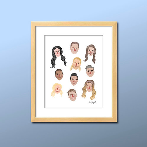 Schitt's Creek Illustrated Print