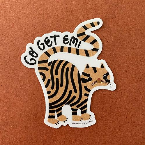 Go Get 'Em Tiger Sticker