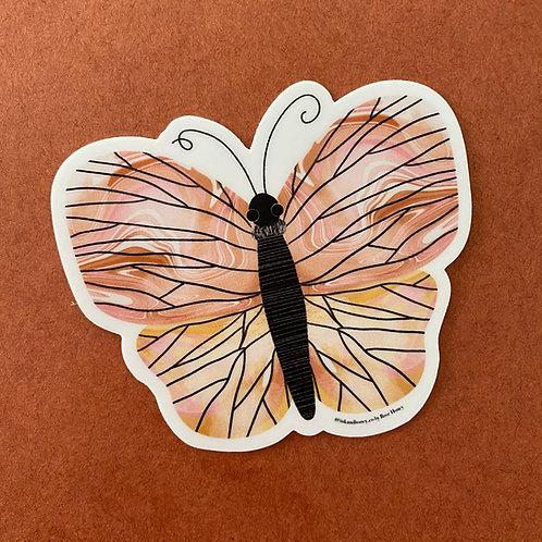 Butterfly Baby Sticker