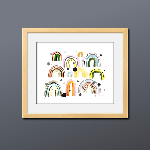 Many Mini 'Bows Watercolor Print