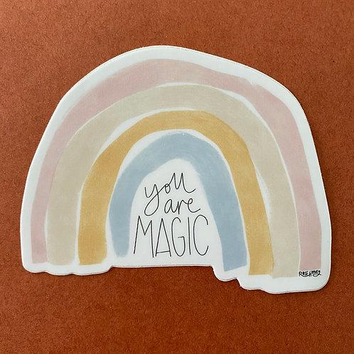 You Are Magic Rainbow Sticker