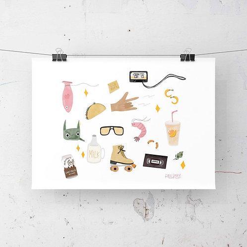 """""""lil bits"""" Collage Illustration"""