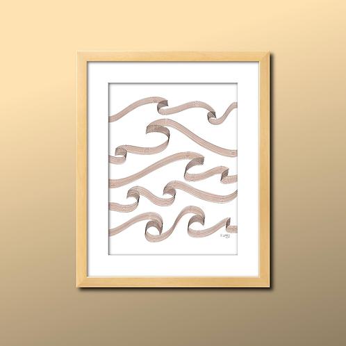 Makin' Waves Line Print