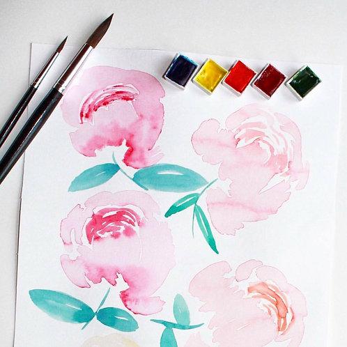Intro. to Watercolor Florals Workshop