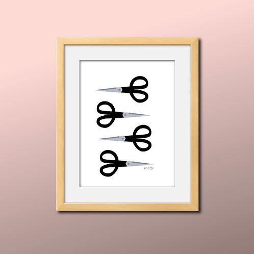 Black Scissor Print
