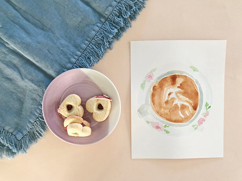 Coffee for Breakfast Watercolor
