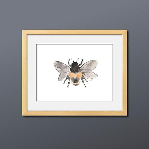 Sweet Bee Watercolor Print