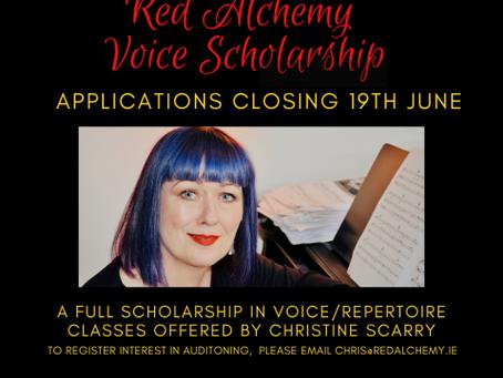 RED ALCHEMY VOICE SCHOLARSHIP