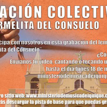Grabación Colectiva del lema: Carmelita del Consuelo