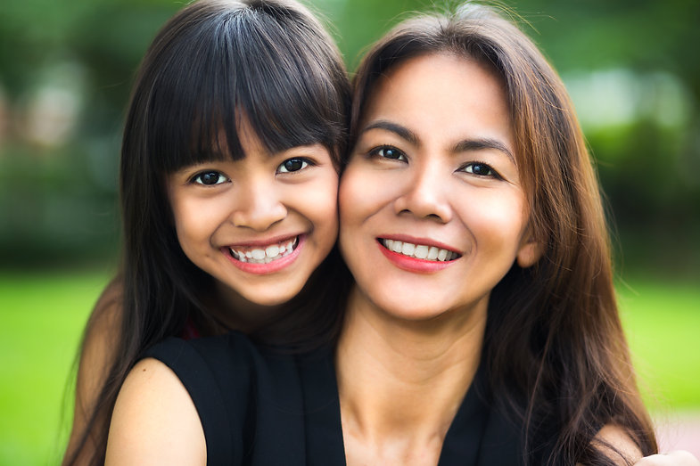 Happy mother and child girl, Outdoor.jpg