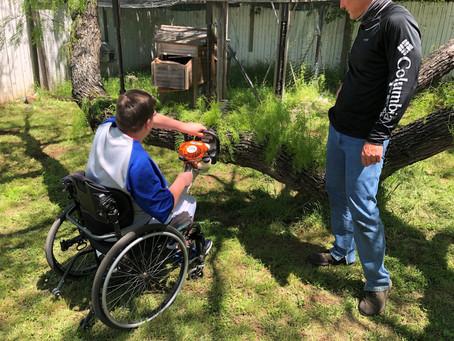 April Camp - Lawn Care