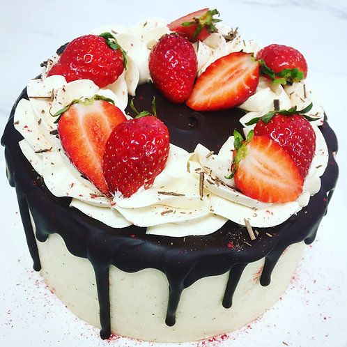 Mother's Day Strawberry Cake