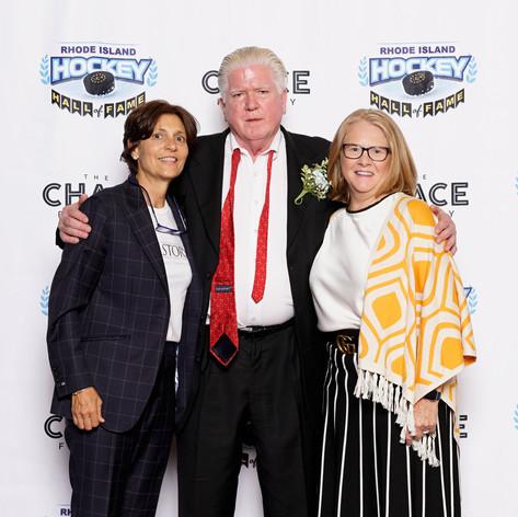 Digit and Aronda with Brian Burke at HOF