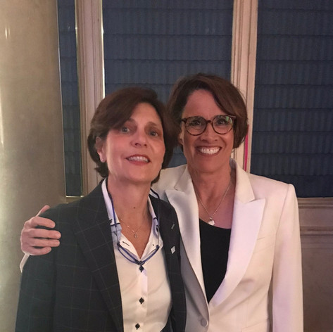 With Mary Carillo at WSF Annual Gala