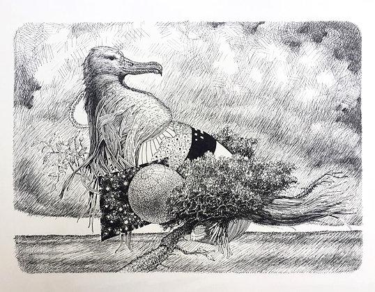 rene steen sørensen . no title IV . 30 x 42 . pen & ink drawing