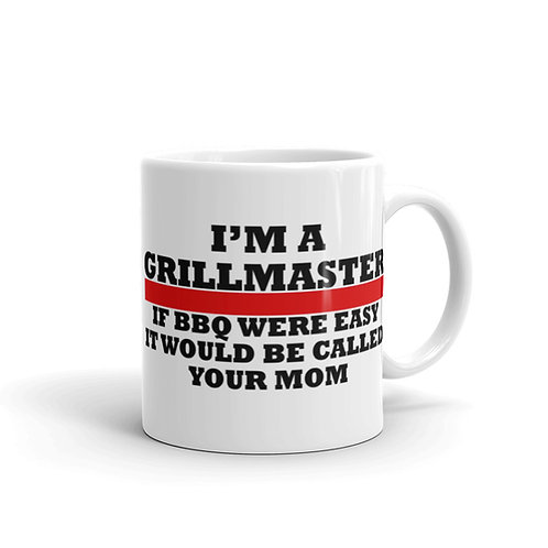 Grill Master White glossy mug
