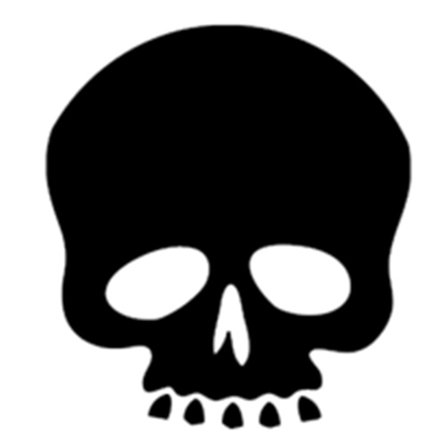 """1"""" Skull Game Counters"""