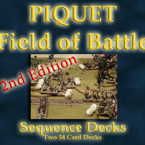 Field of Battle Deluxe Sequence Card Decks - double decks