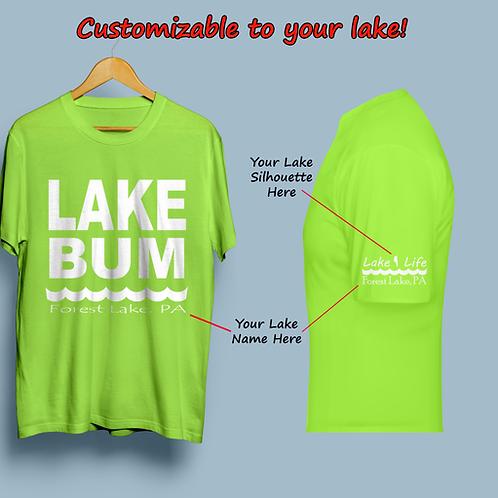 Lake Bum Customizable Lake Life T-Shirt